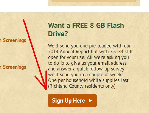FREE 8 GB Flash Drive