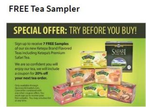 free tea sampler